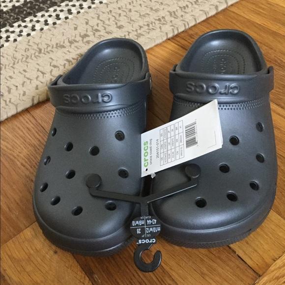 CROCS Shoes | Dark Grey Crocs | Poshmark